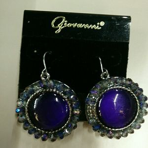 Giovanni post earrings purple